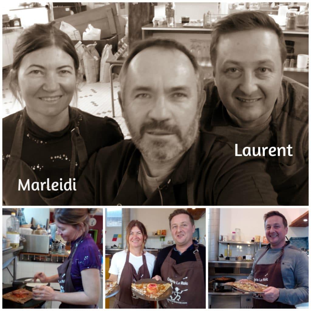 Marleidi et Laurent formation crêpier